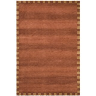 Safavieh Hand-knotted Tibetan Border Rust Wool Rug (9' x 12')