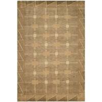 Safavieh Hand-knotted Tibetan Geometric Beige/ Brown Wool Rug - 6' x 9'