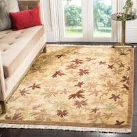 Safavieh Hand-knotted Tibetan Modern Abstract Multicolored Wool Rug - 6' x 9'