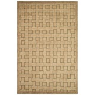 Safavieh Hand-knotted Tibetan Geometric Beige/ Multi Wool Rug (5' x 7'6)