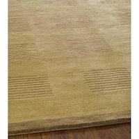 Safavieh Hand-knotted Tibetan Geometric Camel/ Brown Wool Rug - 6' x 9'
