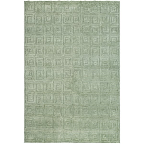 Shop Safavieh Hand Knotted Tibetan Greek Key Celadon