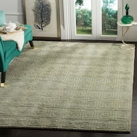 Safavieh Hand-knotted Tibetan Greek Key Camel Wool Rug - 9' x 12'