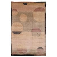 Safavieh Hand-knotted Tibetan Modern Multicolored Wool Area Rug - 6' x 9'