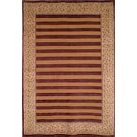 Safavieh Hand-knotted Tibetan Striped Multicolored Wool Rug - 5' x 7'6
