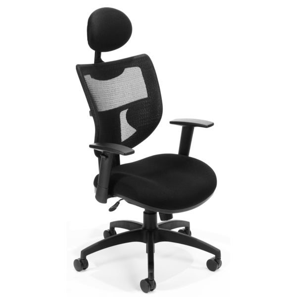 OFM Contemporary Black Mesh Executive Chair
