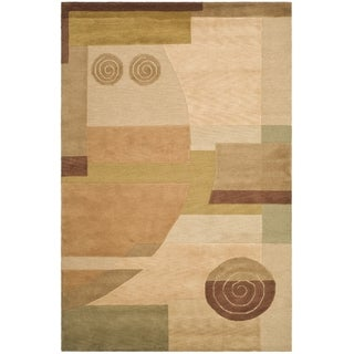 """Safavieh Hand-knotted Tibetan Modern Abstract Multicolored Wool Rug (5' x 7'6"""")"""