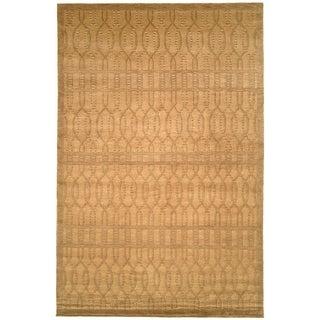 Safavieh Hand-knotted Tibetan Geometric Ivory/ Beige Wool Rug (5' x 7'6)