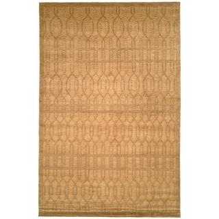 Safavieh Hand-knotted Tibetan Geometric Ivory/ Beige Wool Rug (6' x 9')