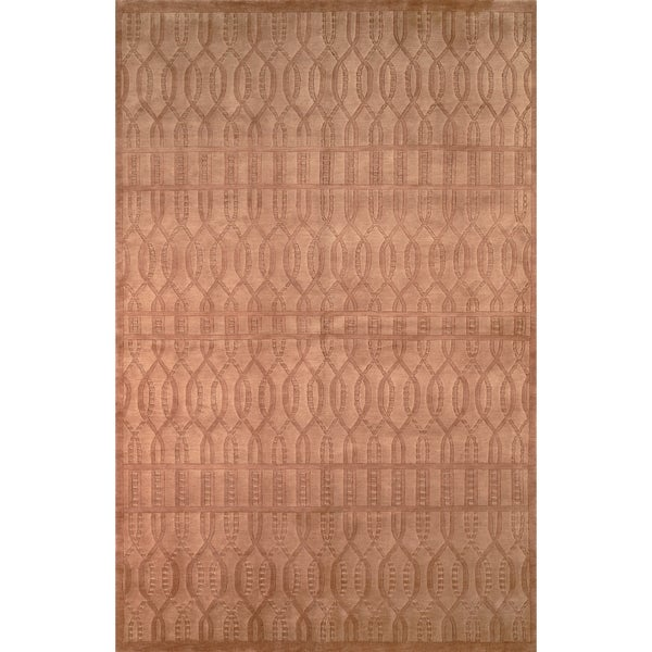 Safavieh Hand-knotted Tibetan Geometric Camel Wool Rug - 10' x 14'
