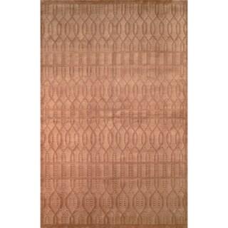 Safavieh Hand-knotted Tibetan Geometric Camel Wool Rug (6' x 9')