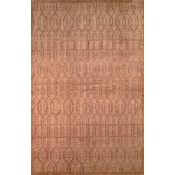 Safavieh Hand-knotted Tibetan Geometric Camel Wool Rug - 9' x 12'