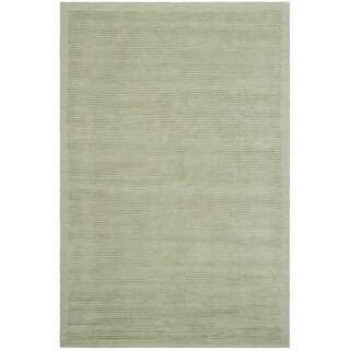 Safavieh Hand-knotted Tibetan Striped Light Green Wool/ Silk Rug - 10' x 14'
