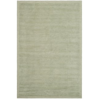 Safavieh Hand-knotted Tibetan Striped Light Green Wool/ Silk Rug (6' x 9')