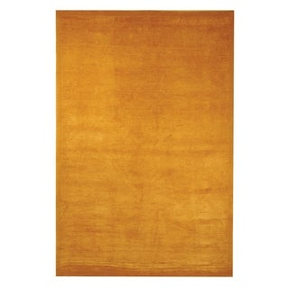 Safavieh Hand-knotted Tibetan Striped Gold Wool/ Silk Rug (4' x 6')