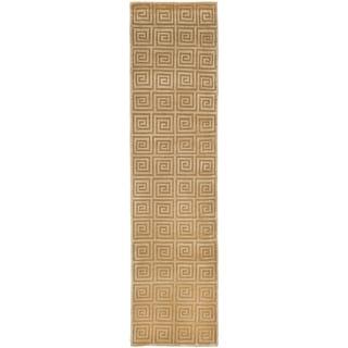 Safavieh Hand-knotted Tibetan Greek Key Ivory Wool Rug (2'6 x 10')