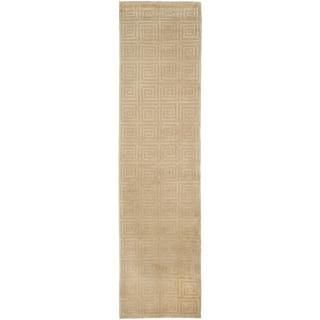 Safavieh Hand-knotted Tibetan Greek Key Butterscotch Wool Rug (2'6 x 12')