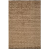 Safavieh Hand-knotted Tibetan Greek Key Deep Bronze Wool Rug - 8' x 10'