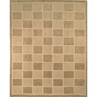 Safavieh Hand-knotted Tibetan Geometric Sage/ Beige Wool Rug - 10' x 14'
