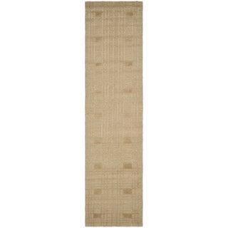 Safavieh Hand-knotted Tibetan Geometric Sand Wool Rug (2'6 x 12')