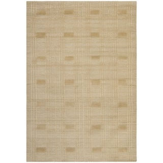 Safavieh Hand-knotted Tibetan Geometric Sand Wool Rug (10' x 14')