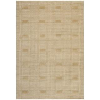 Safavieh Hand-knotted Tibetan Geometric Sand Wool Rug (6' x 9')