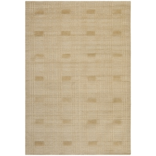 Safavieh Hand-knotted Tibetan Geometric Sand Wool Rug (8' x 10')