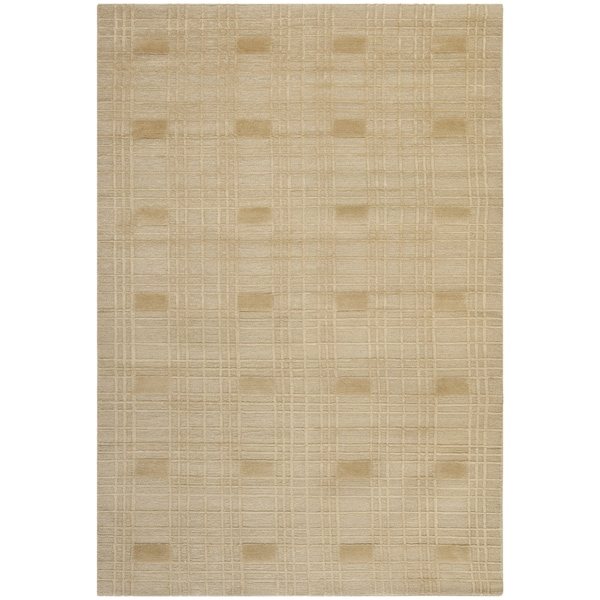 Safavieh Hand-knotted Tibetan Geometric Sand Wool Rug - 9' x 12'