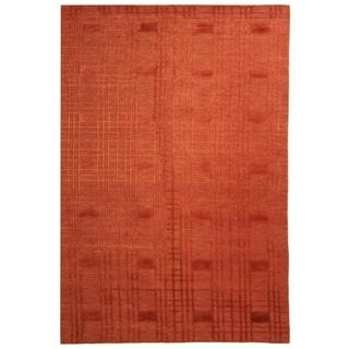 Safavieh Hand-knotted Tibetan Geometric Rust Wool Area Rug (8' x 10')