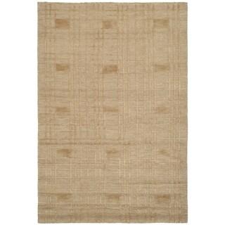 Safavieh Hand-knotted Tibetan Geometric Gold Wool Rug (6' x 9')