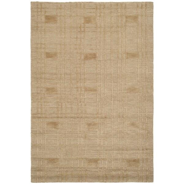 Safavieh Hand-knotted Tibetan Geometric Gold Wool Area Rug (9' x 12')