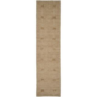 Safavieh Hand-knotted Tibetan Geometric Gold Wool Rug (2'6 x 12')