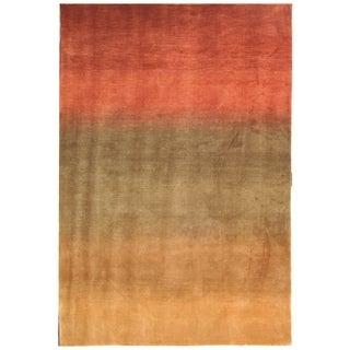 Safavieh Hand-knotted Tibetan Southwestern Beige/ Rust Wool Rug (6' x 9')