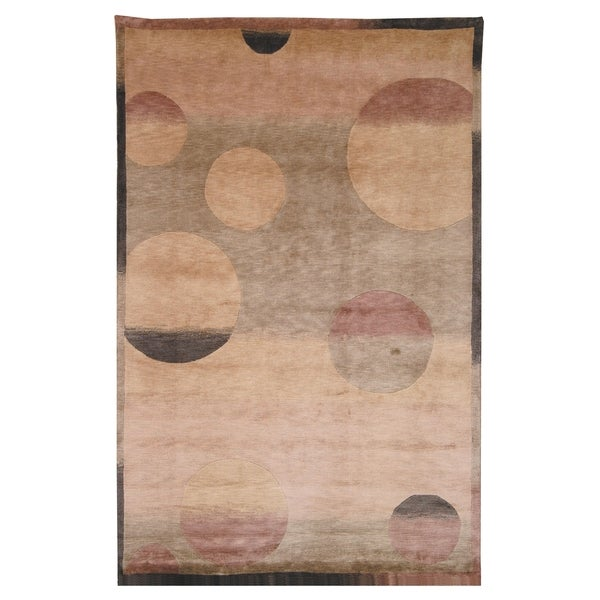 Safavieh Hand-knotted Tibetan Modern Multicolored Wool Area Rug - 10' x 14'