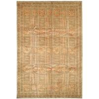 Safavieh Hand-knotted Tibetan Gold Wool/ Silk Rug (5' x 7'6) - 5' x 7'6