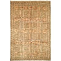 Safavieh Hand-knotted Tibetan Gold Wool/ Silk Rug (6' x 9')