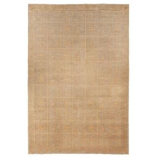 Safavieh Hand-knotted Tibetan Green Wool/ Silk Rug (10' x 14')