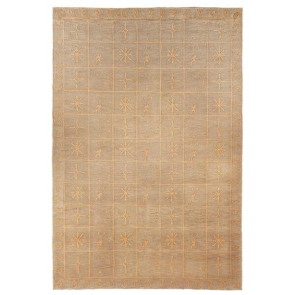 Safavieh Hand-knotted Tibetan Green Wool/ Silk Rug - 9' x 12'
