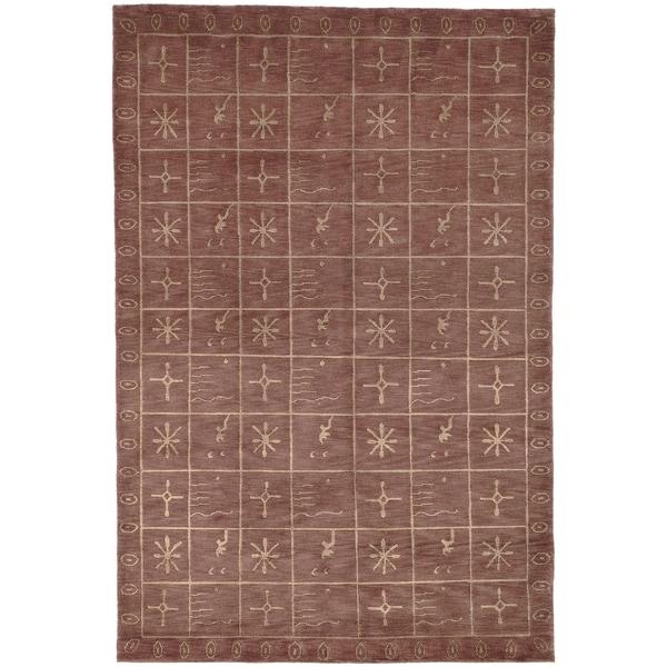 Safavieh Hand-knotted Tibetan Multicolored Wool/ Silk Rug - 8' x 10'