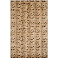 Safavieh Hand-knotted Tibetan Rust/ Lavender Wool Rug - 6' x 9'