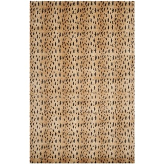 Safavieh Hand-knotted Tibetan Rust/ Lavender Wool Rug (9' x 12')