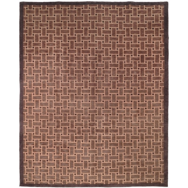 Safavieh Hand-knotted Tibetan Thatched Multicolored Wool Rug - multi - 10' x 14'