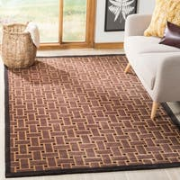 Safavieh Hand-knotted Tibetan Thatched Multicolored Wool Rug - 5' x 7'6