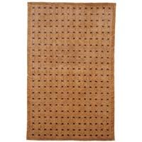 Safavieh Hand-knotted Tibetan Thatched Peach Wool Rug (5' x 7'6) - 5' x 7'6
