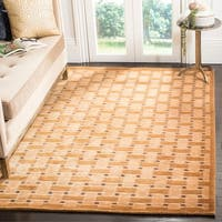 Safavieh Hand-knotted Tibetan Thatched Peach Wool Rug - 6' x 9'