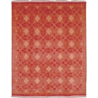 Safavieh Hand-knotted Tibetan Geometric Rust Wool Rug (5' x 7'6)