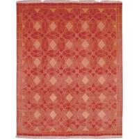 Safavieh Hand-knotted Tibetan Geometric Rust Wool Rug - 6' x 9'
