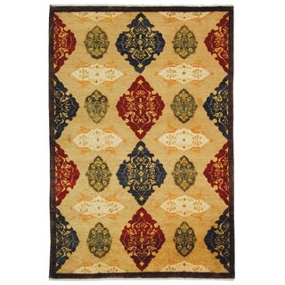 Safavieh Hand-knotted Tibetan Geometric Multicolored Wool Rug (5' x 7'6'')