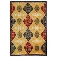 Safavieh Hand-knotted Tibetan Geometric Multicolored Wool Rug - 8' x 10'