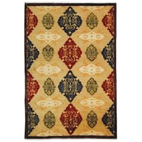 Safavieh Hand-knotted Tibetan Geometric Multicolored Wool Rug - 9' x 12'